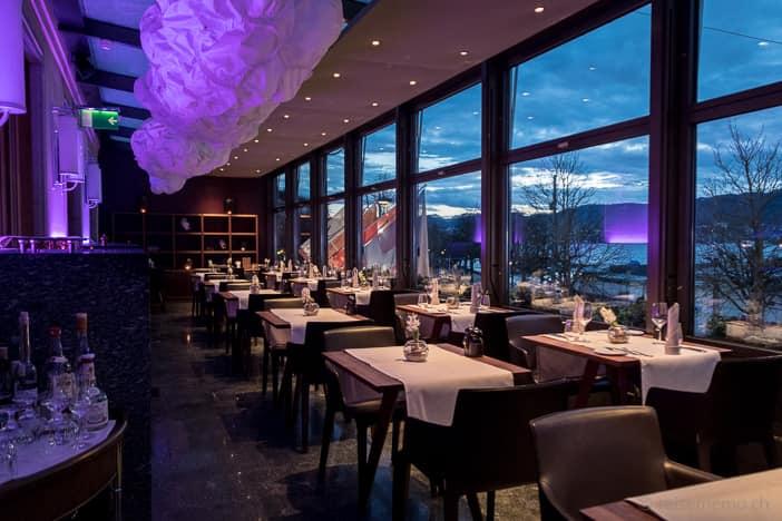 Restaurant VIVUS mit Sicht auf den Zürichsee