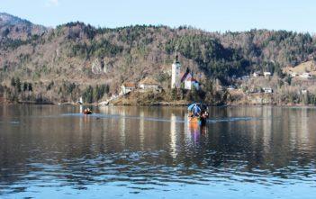 Bled Blejsko jezero Cerkev Marijinega Vnebovzetja