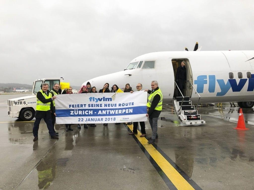 Erstflug VLM Airlines Zürich–Antwerpen