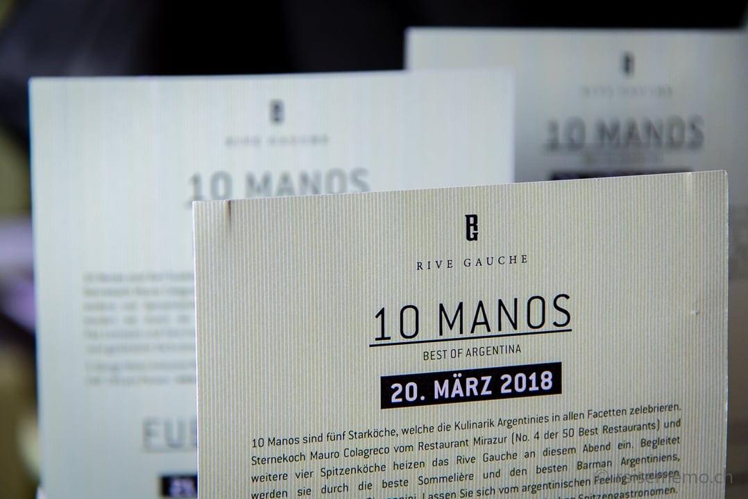 """Programm """"10 Manos"""" 20. März 2018 am Gustofestival in Zürich"""