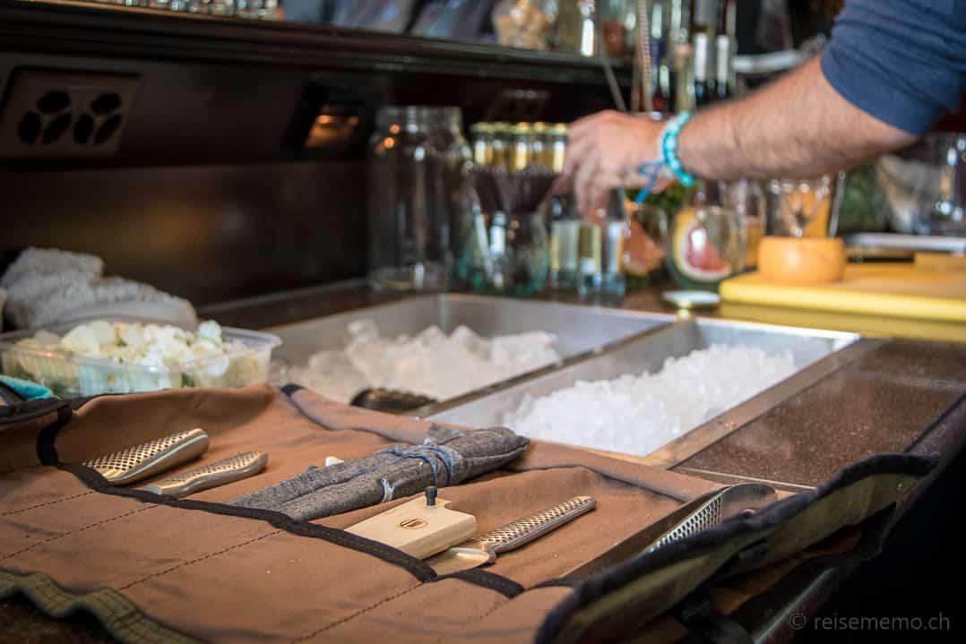 Bar-Utensilien von Star-Barman Tato Giovannoni im Rive Gauche