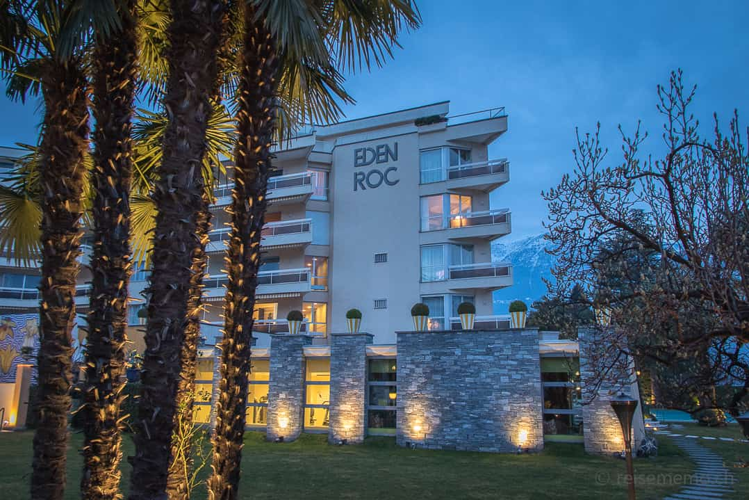 Eden Roc Hotelgebäude in Ascona