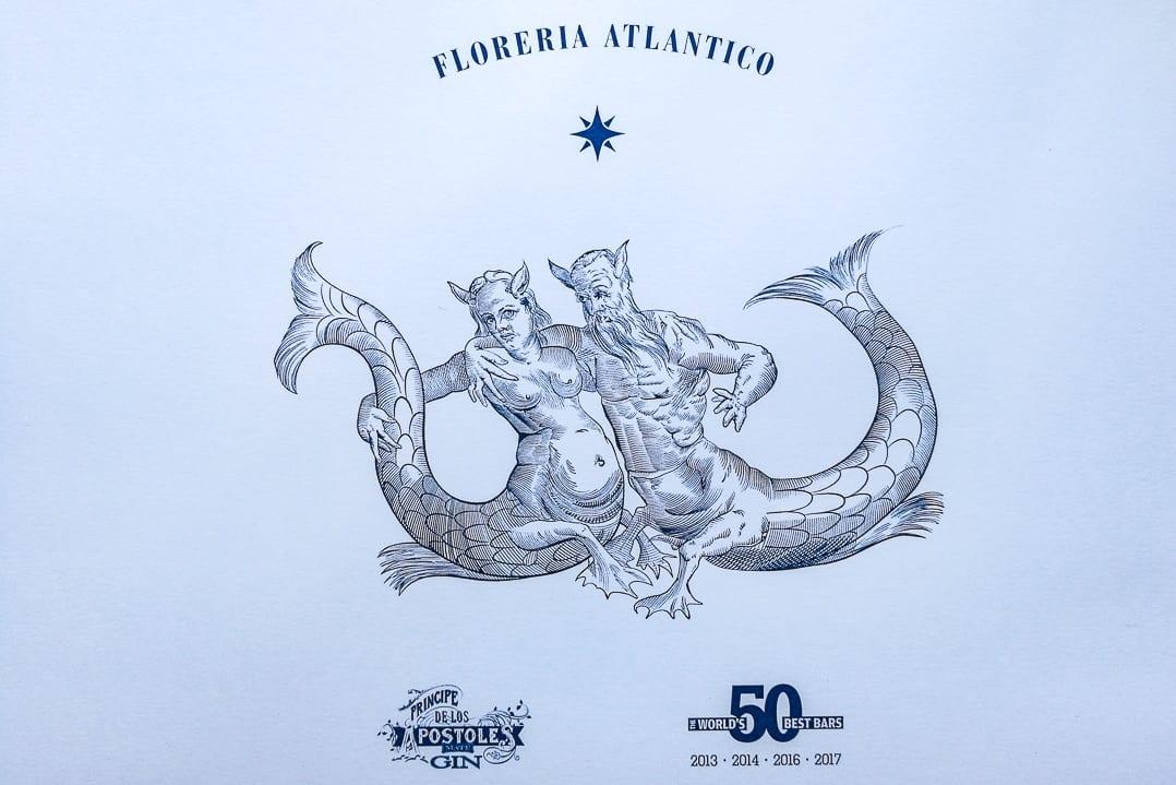 Emblem der Florería Atlántico, Príncipe Apóstoles Gin, World's 50 Best Bars