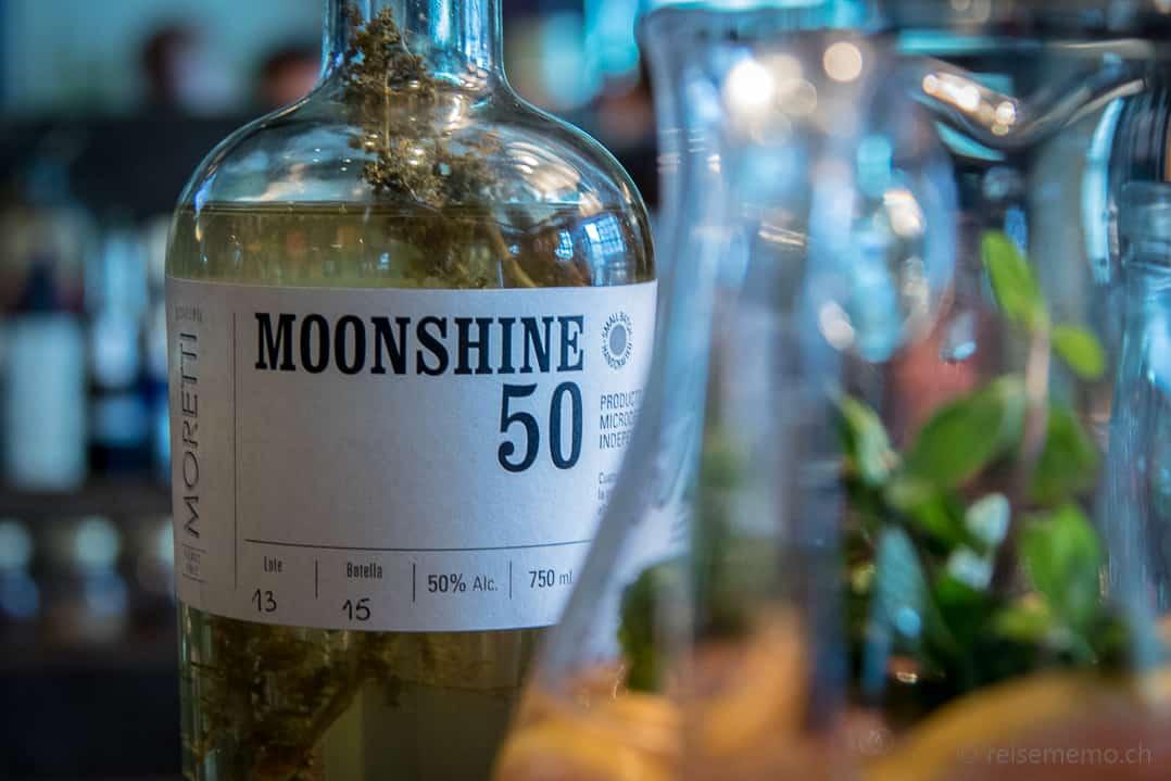 Moretti Moonshine 50 Maisschnaps im Rive Gauche