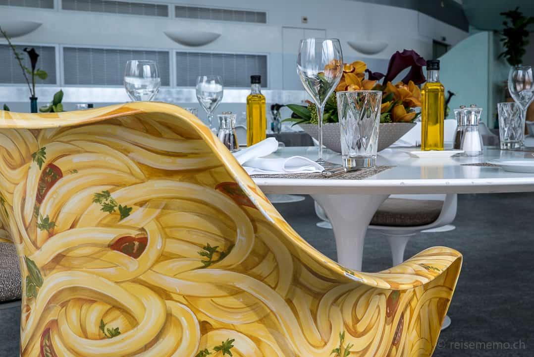 Spaghettistuhl nach Vorgabe von Designer Carlo Rampazzi