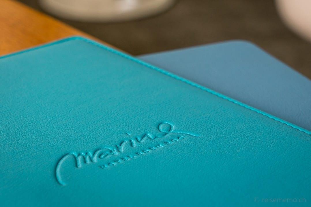 Menukarte des Marina Restaurants Ascona