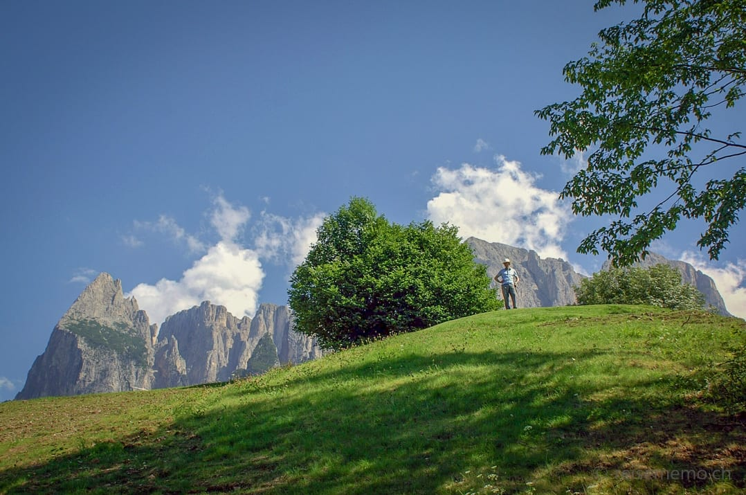 Walter Schärer im Golf Kastelruth in den Dolomiten