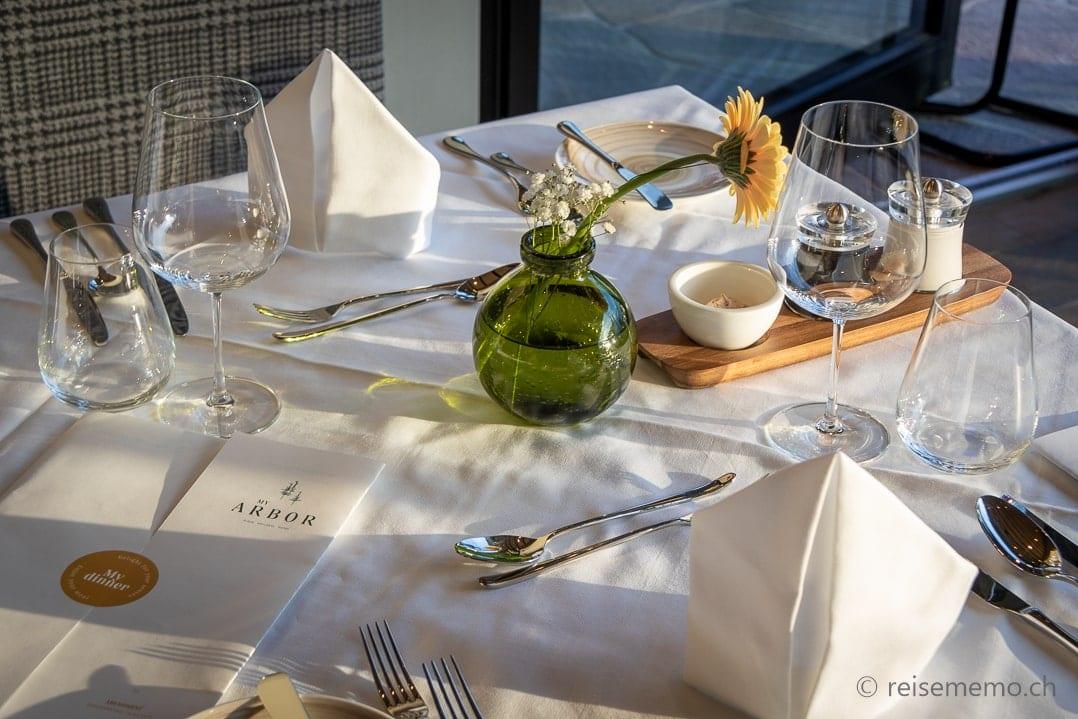 Gedeckter Tisch My Arbor Hotel