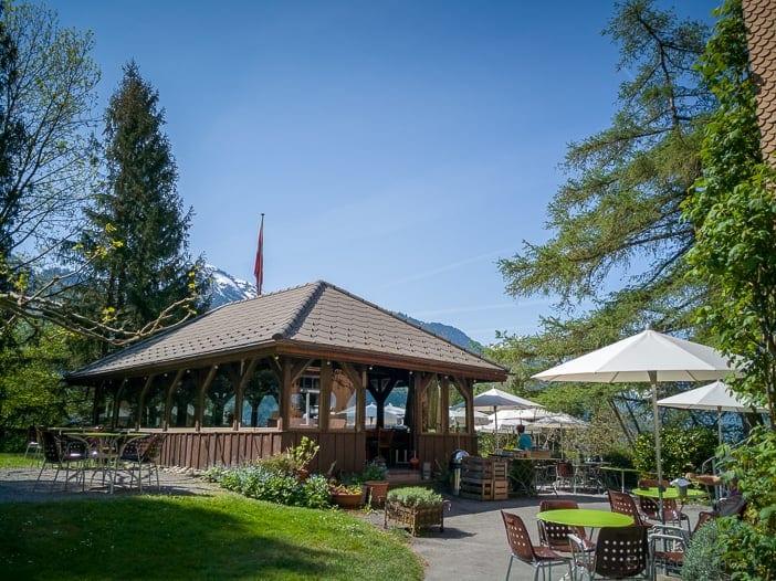 Gartenpavillon des Restaurants Paradiesli