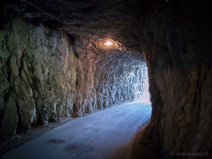 Betlisstrasse-Tunnel für Wanderer
