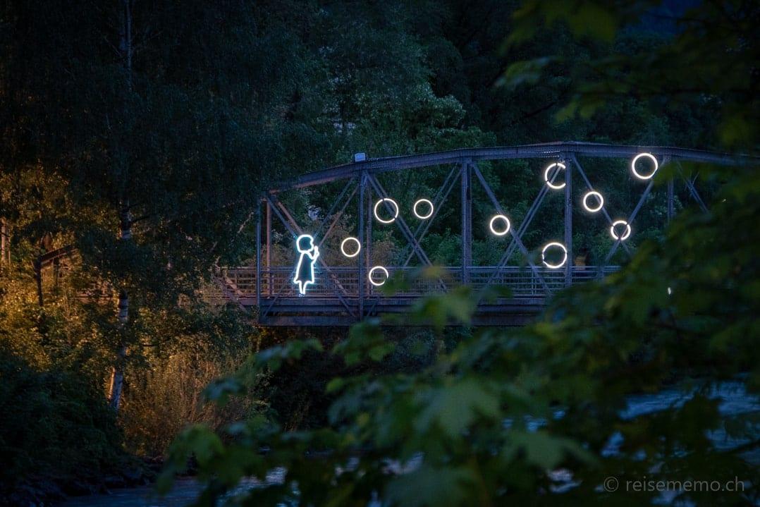 Licht-Installation Water Bubbles in Brixen