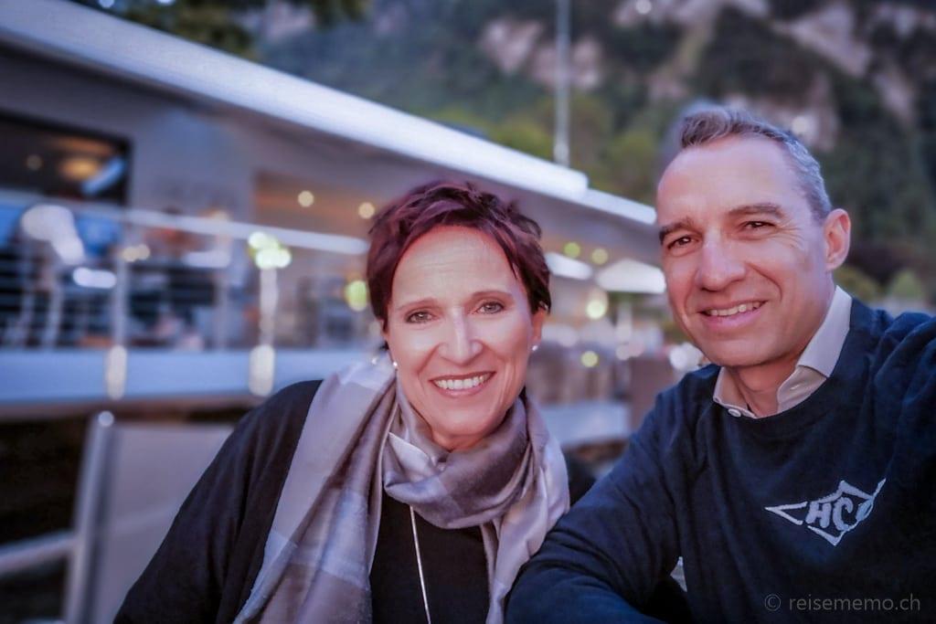 Katja und Walter im Restaurant Sens
