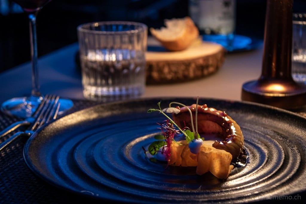 Seeteufel und Sauerkraut im Sens Gourmetrestaurant