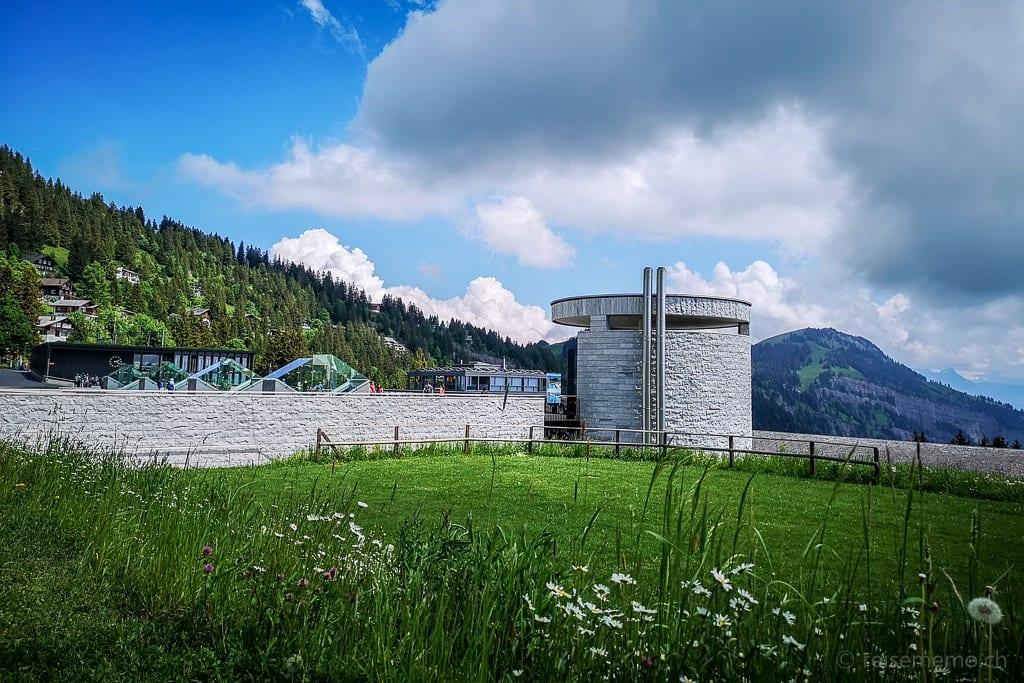 Mineralbad von Architekt Mario Botta in Rigi Kaltbad