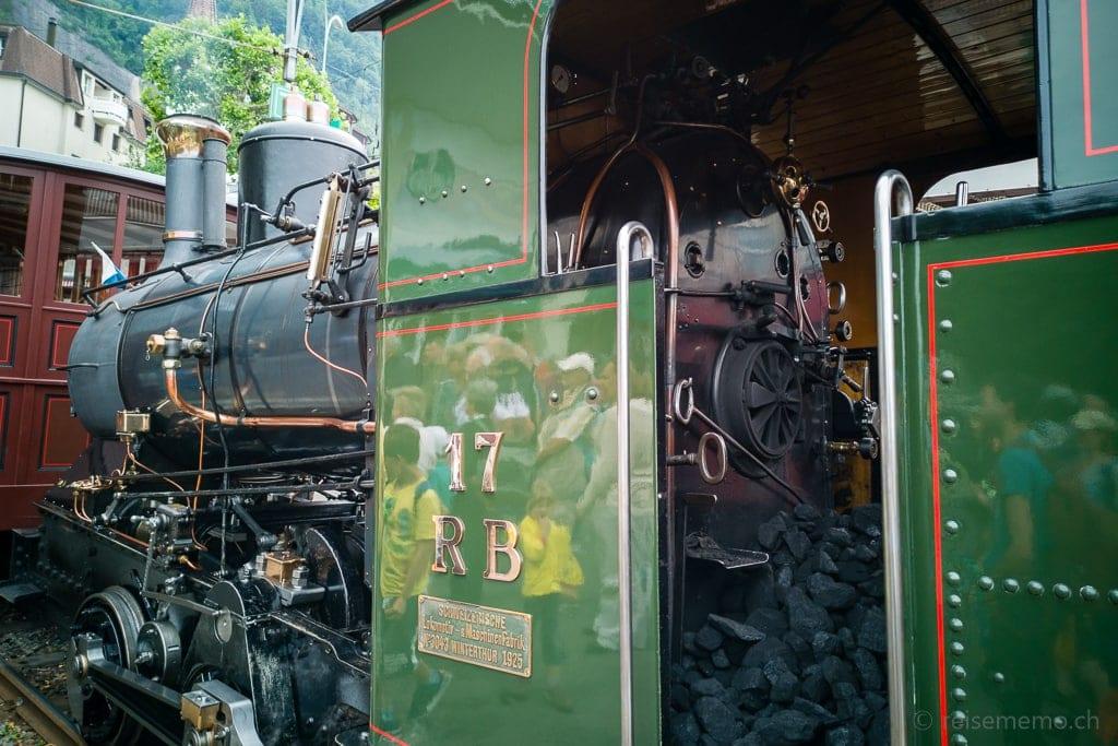 Damplokomotive der Zahnradbahn Vitznau Rigi