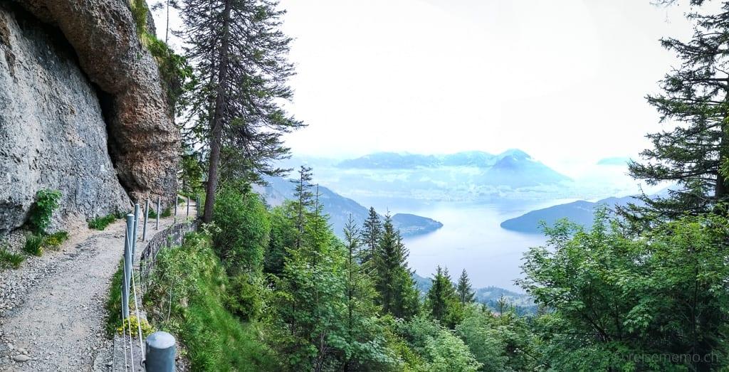 Felsenweg auf der Rigi