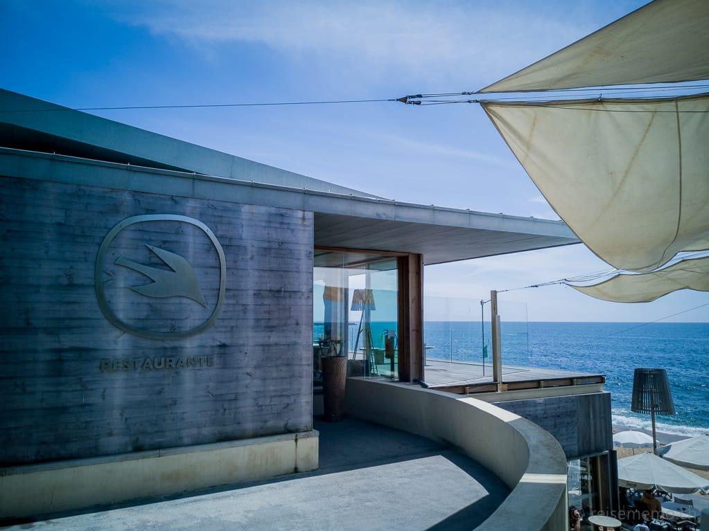 Restauranteingang Praia do Luz oberhalb des Strands