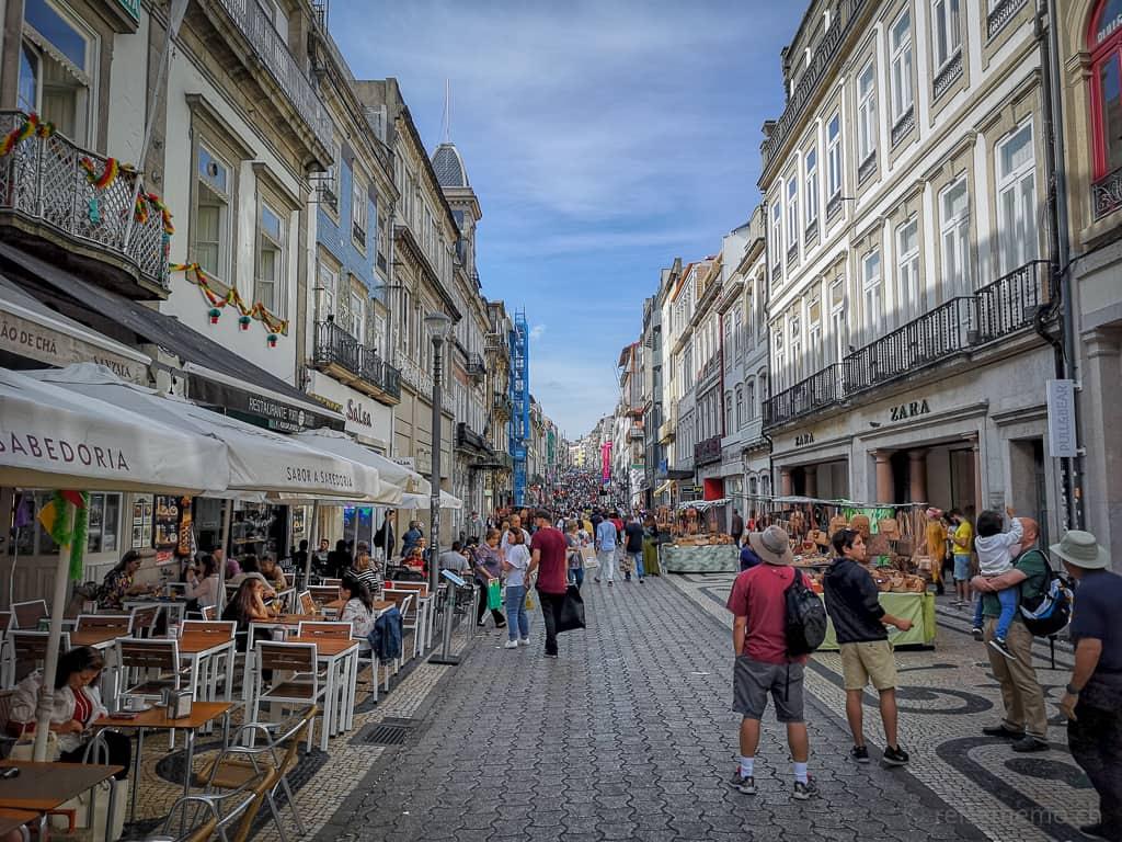 Rua de Santa Catarina, Einkaufsmeile Portos