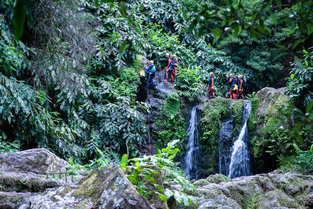 Canyoning im Parque natural de Ribeira dos Caldeirões