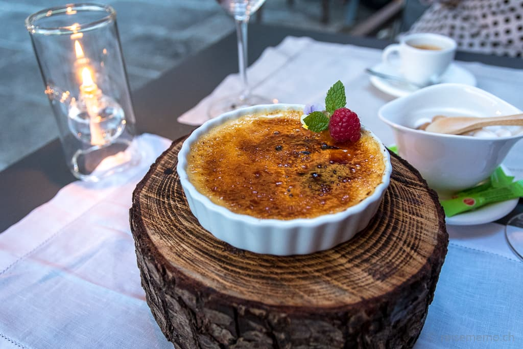 Crema Catalana zum Dessert im Six Senses Douro Valley