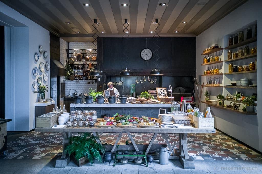 Frühstücksbuffet im Restaurant des Six Senses Douro Valley
