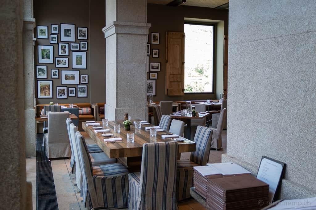 Tischgedeck im Restaurant des Six Senses Douro Valley