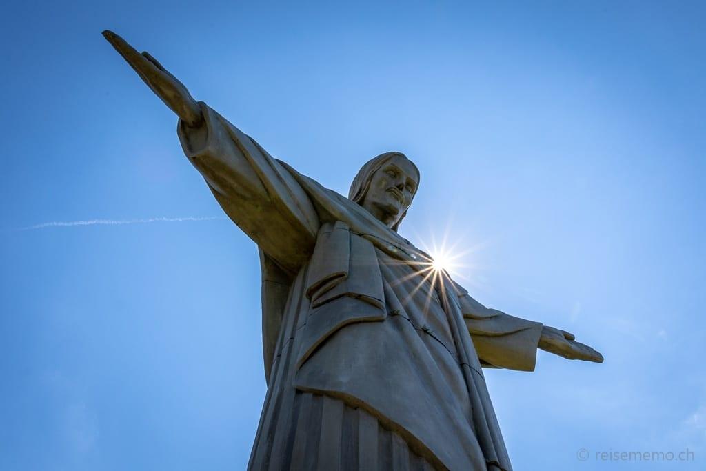 Statue Cristo Salvador wacht über Bad Ragaz