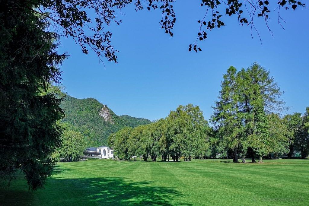 Fairway 1 des Golfplatzes Bad Ragaz
