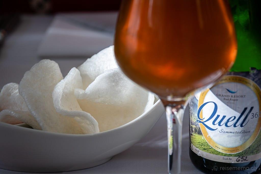Lokales Schweizer Bier 36.5° Quell