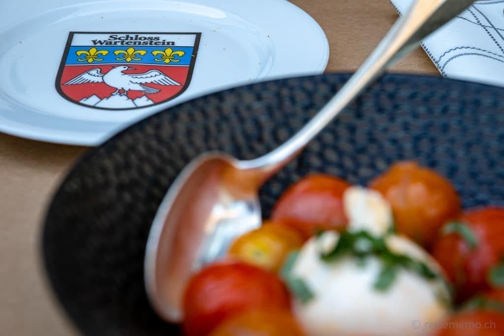 Schloss Wartenstein: Tomaten-Mozzarella-Salat