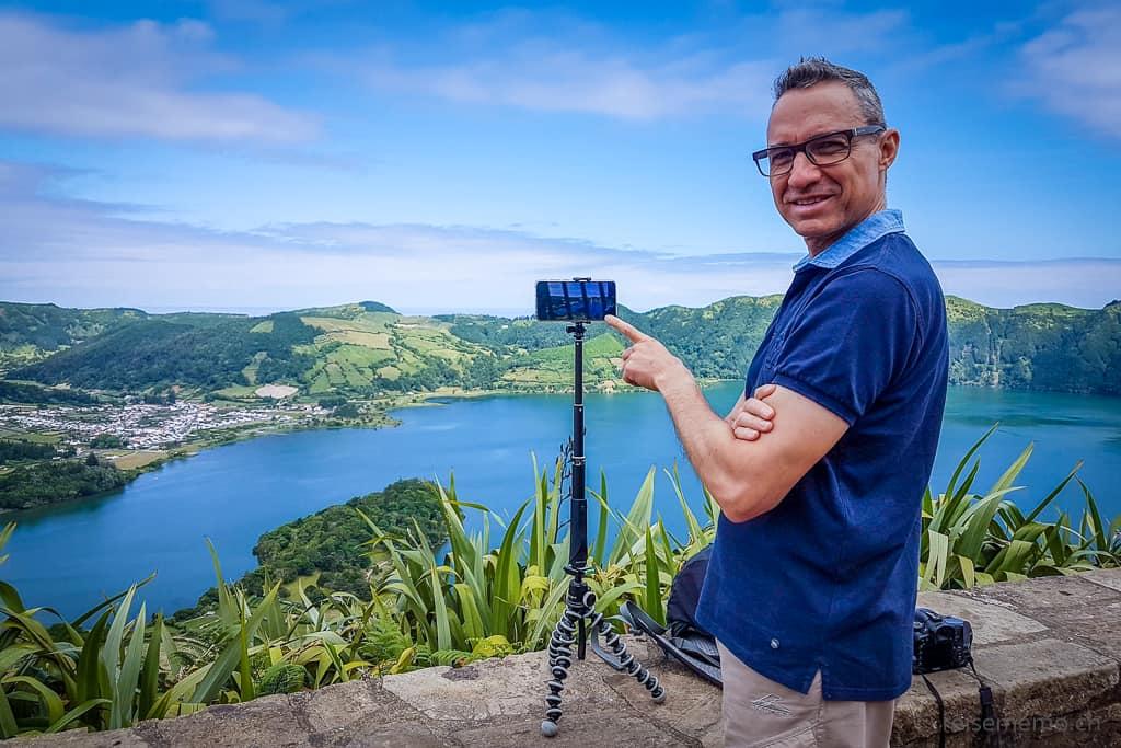 Walter und der Lagoa Azul Sao Miguel