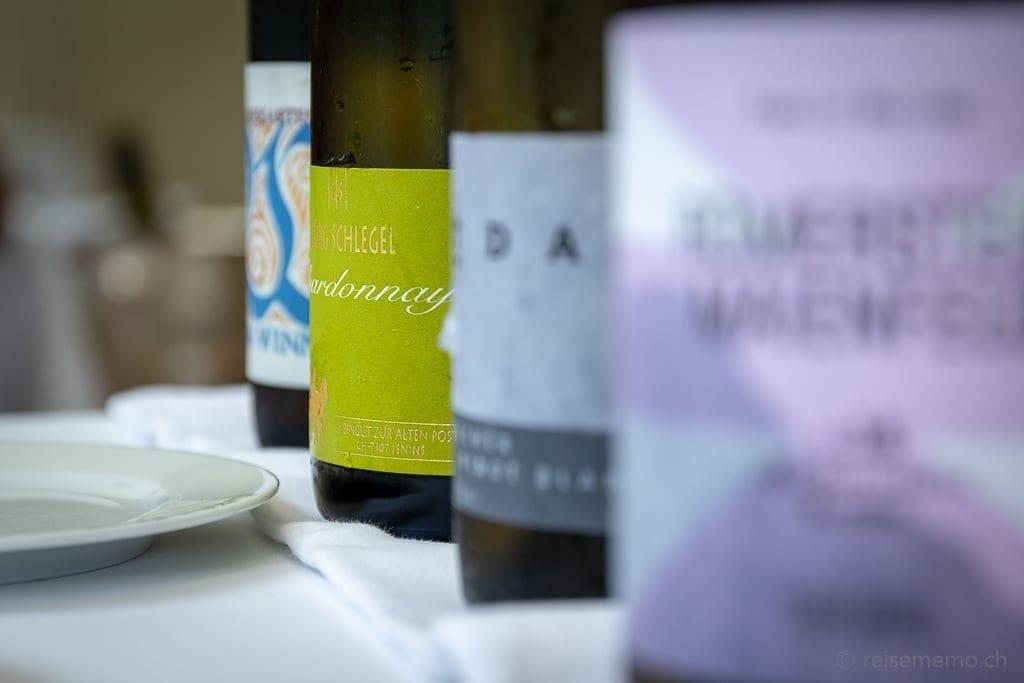 Weindegustation im Olives d'Or Restaurant