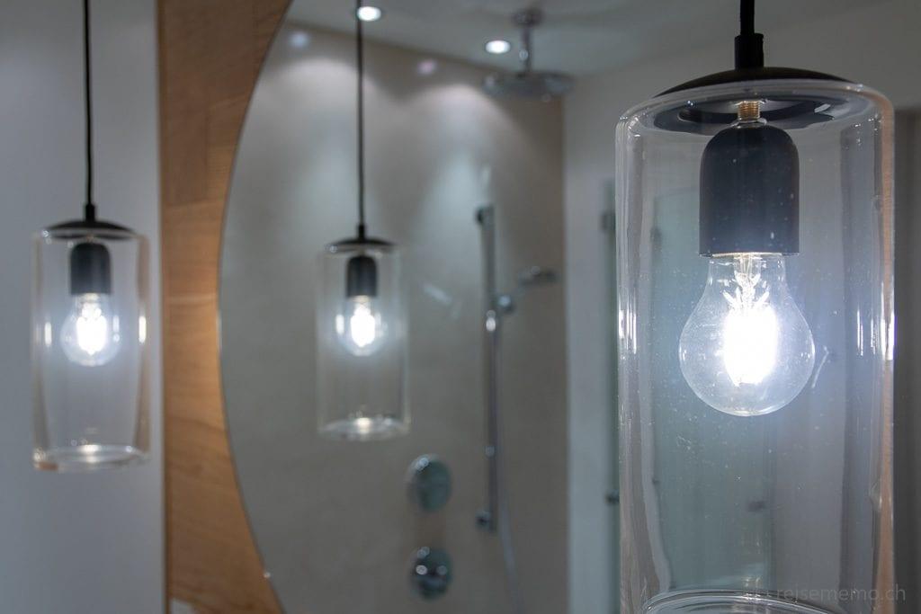 Badezimmerlampen in der Seezeitlodge am Bostalsee