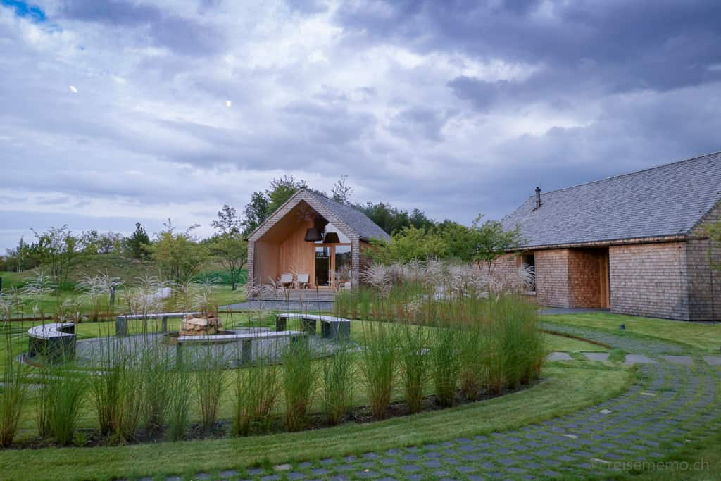 Keltisches Saunadorf der Seezeitlodge am Bostalsee