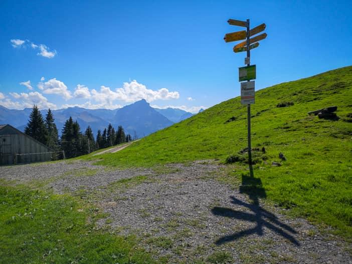 Wanderschilder auf dem Amdener Höhenweg