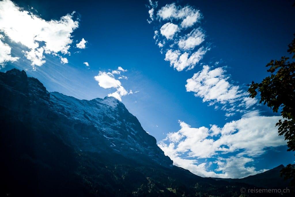 Eiger-Nordwand vom Hotel Glacier aus gesehen