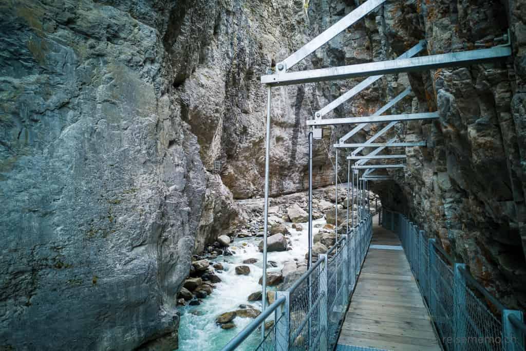 Holzsteg in der Gletscherschlucht Grindelwald