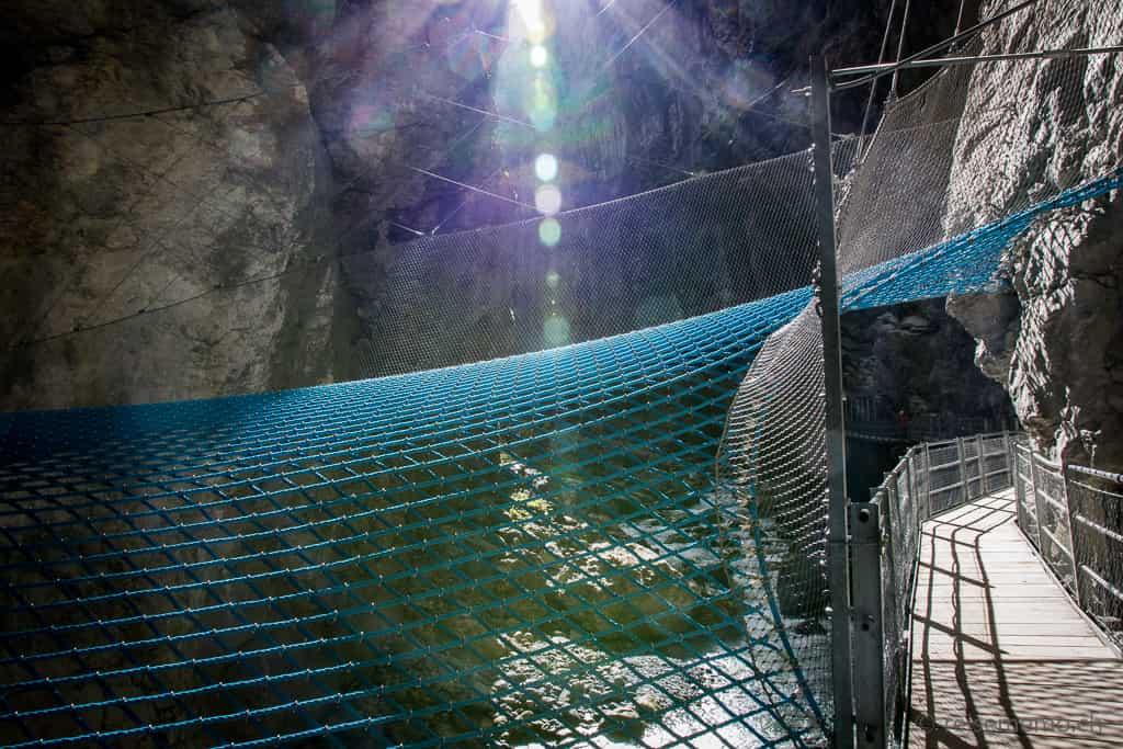 Spiderweb in der Gletscherschlucht Grindelwald