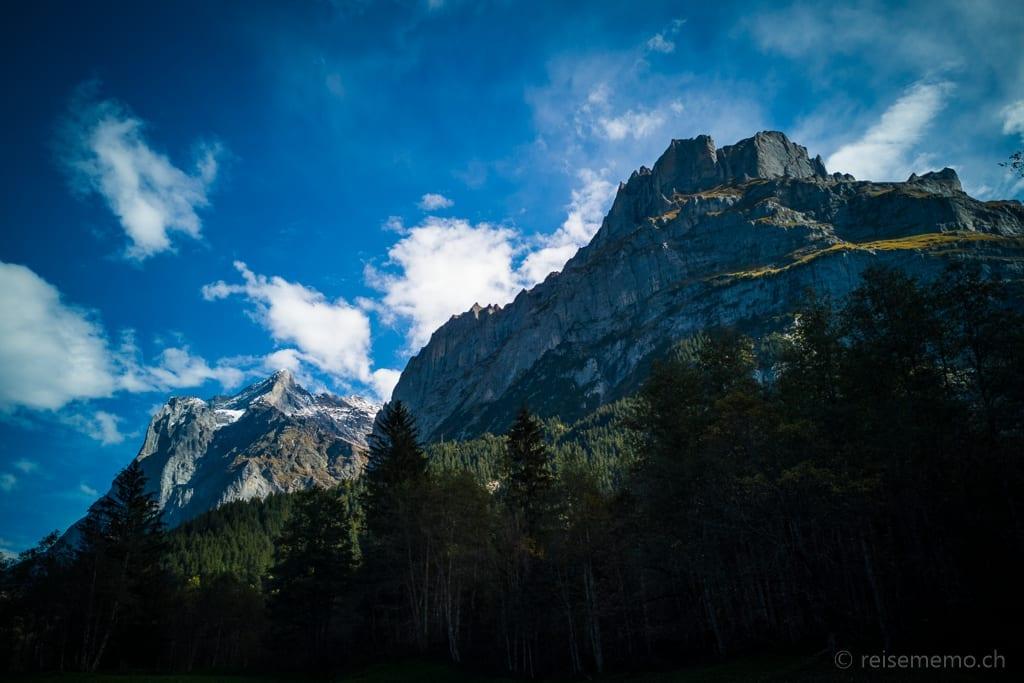 Grindelwald Wetterhorn und Mittelhorn