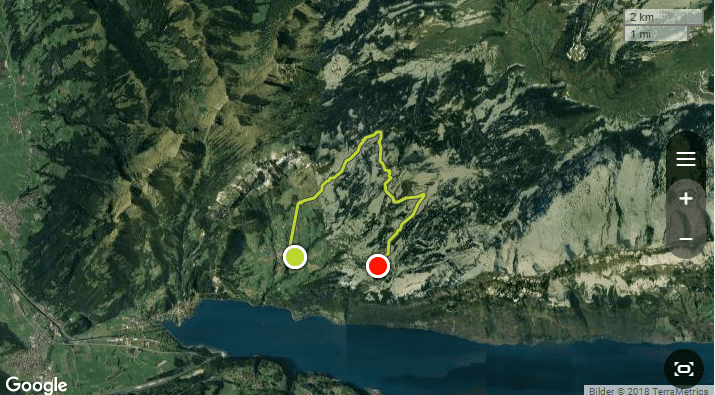 Route der Wanderung am Amdener Höhenweg