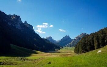 Ausgetrockneter Sämtisersee im Alpstein