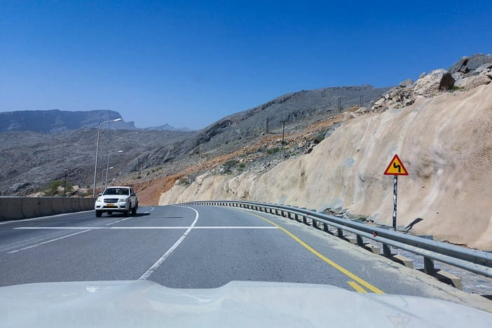 Road in Al Jabal Akhdar Mountains