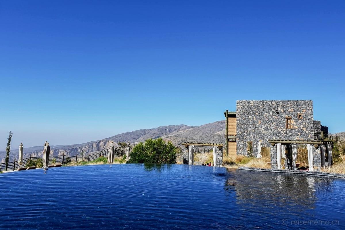 Hotelpool und Wohneinheit Alila Jabal Akhdar