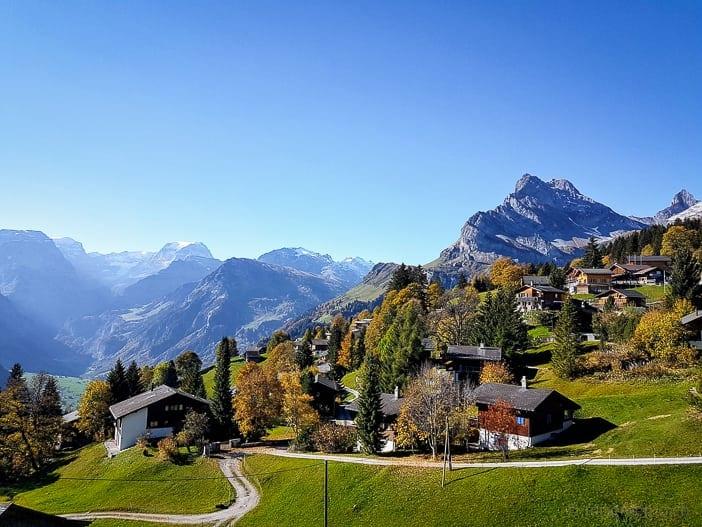 Aussicht von Braunwald auf Glarus und den Tödi