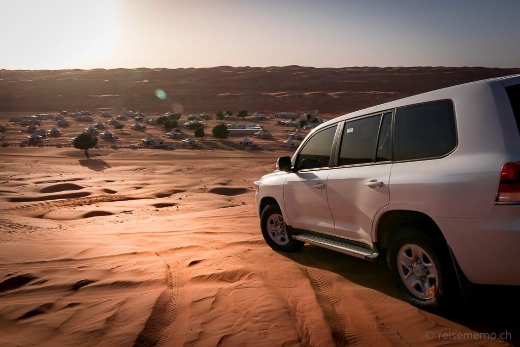 SUV-Transfer im Desert Nights Camp Wahiba Sands im Oman