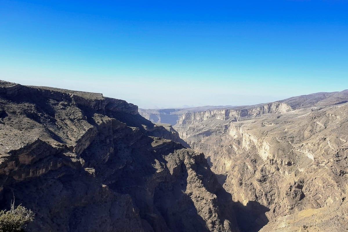 Canyon vor dem Hotel Alila Jabal Akhdar