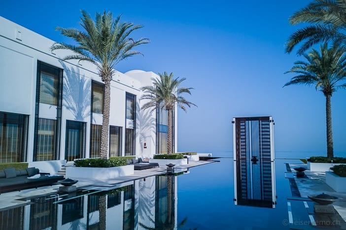103 Meter langer Pool des Chedi Muscat
