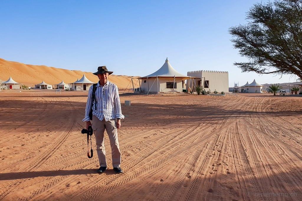 Walter Schärer im Desert Nights Camp Wahiba Sands im Oman