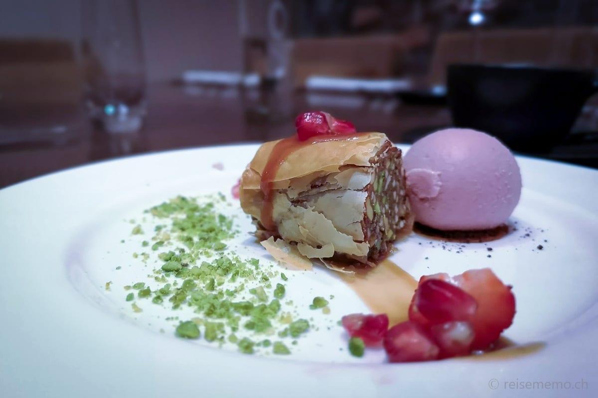 Omani Dessert im Alila Jabal Akhdar