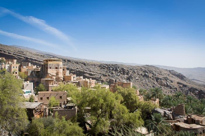 Oasendorf Misfat al Abriyyin bei Al Hamra